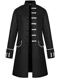 SHOBDW Hombres Cardigans Talla Grande Invierno Cálido Sólido Stand Collar  Vintage Tailcoat Chaqueta Rompevientos Abrigo Outwear eedb2f94e874
