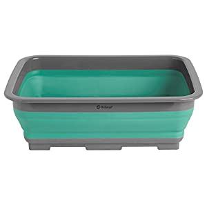 31UaFTJLBsL. SS300  - Outwell Collaps Compact Collapsing Washing Up Bowl - Turquoise