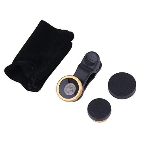 Feketeuki Más Reciente 180 Grados Fisheye Universal Clip Lente Gran Angular para teléfonos celulares Cámara Venta calienteLos más vendidos y los más Populares en - Oro