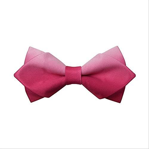 ZSRHH-Neckchiefs Halstücher Herren Krawatte Farbverlauf Einfaches Design Fliege Pre-Tied Formelle Casual Bowtie für Anzüge und Smoking Einstellbare Länge für Männer (Farbe : C2) Pretied Bowties