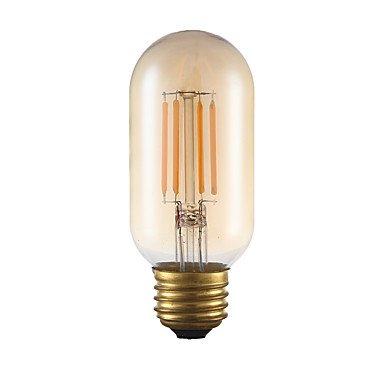 LI 3,5W E26LED Bombillas de filamento T144COB 300LM ámbar intensidad regulable/decorativa ca 110–130V, 1pcs