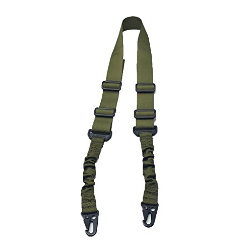 Fuwok, ZSGS02, tracolla regolabile a 2punti per fucile tattico, softair, fucile per il paintball, fucile da caccia, realizzata in nylon, ArmyGreen