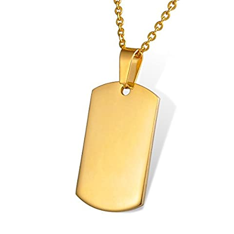 HOUSWEETY Collier Pendentif Plaque Medaille Militaire Armee Nom Prenom Tag + Service Gravure Personnalisee Offre