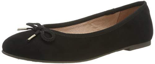 Tamaris Damen 1-1-22142-22 Geschlossene Ballerinas, Schwarz (Black 1), 41 EU (Farben Plattform Schuhe)