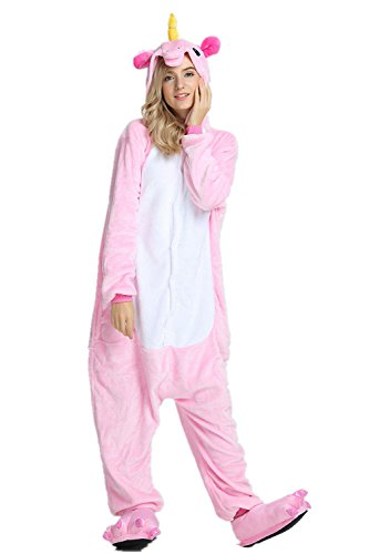 Mystery Melody Unicornio Pijamas Cosplay Unicorn Disfraces Animales Franela  Monos Unisex-adulto ropa de dormir Disfraces de fiesta (M 70e53e3c861d