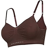 Brubeck Perfect Fit Bra BH (cotone Smooth Skin biancheria intima reggiseno sportivo senza cuciture), marrone, 75A