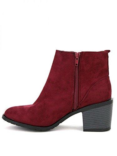 Cendriyon, Bottine Simili peau cuir Rouge AGATANA Mode Chaussures Femme Rouge