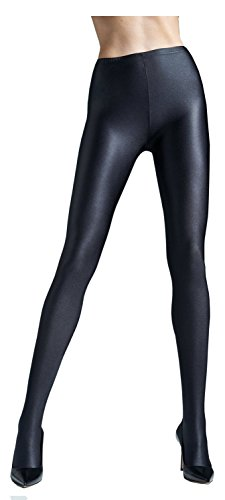 5 Strumpfhosen (Gatta Black Brillant Super Blickdichte glänzende Strumpfhose (5-XL, Schwarz (Black)))