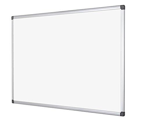 Bi-Office Maya - Pizarra blanca magnética con marco de aluminio, 200 x 120 cm