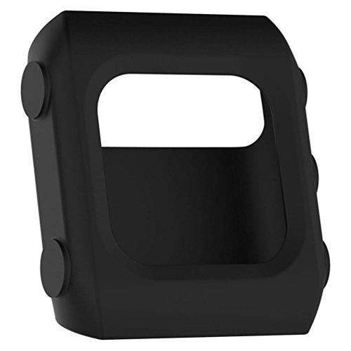 Colorful Für POLAR V800 Watch Schutzhülle Ultra-schlank Silikon Hülle Case Schutz für POLAR V800 Watch,Schwarz