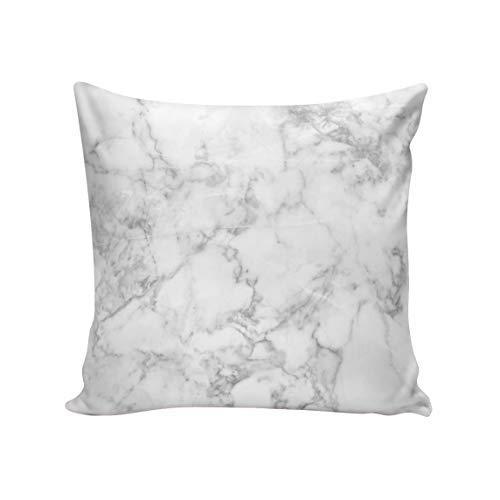 Kissenbezug mit Schaukelgiraffe, weißer Marmor, dekorativer quadratischer Kissenbezug, Superweicher Satin, für Sofa, Bett, Sofa 20