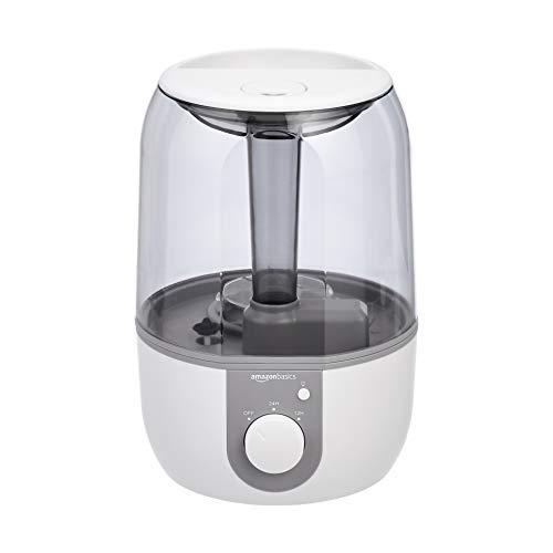 AmazonBasics - Humidificador con luz nocturna y difusor de aroma, de 4 l, blanco