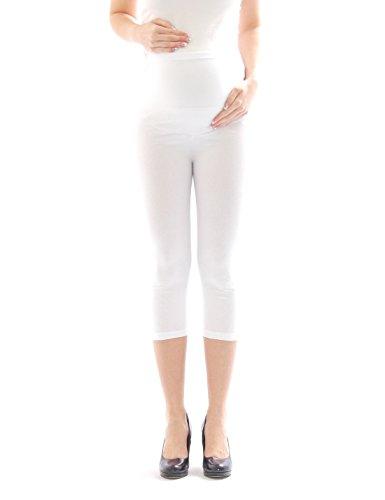 Y-shop -  Leggings  - Pantalone capri - Basic - Donna bianco W44