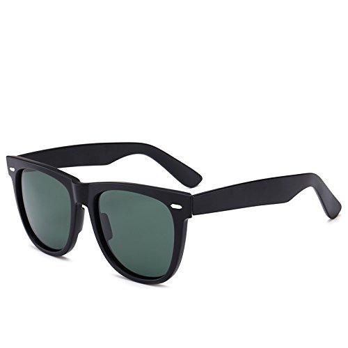Fygrend -Classic polarisierte Sonnenbrille Weinlese-Spiegel UV400 Unisex Sonnenbrillen f¨¹r Frauen-Mann Autofahren Angelsportbrillen 2140 [Matte Black G15]