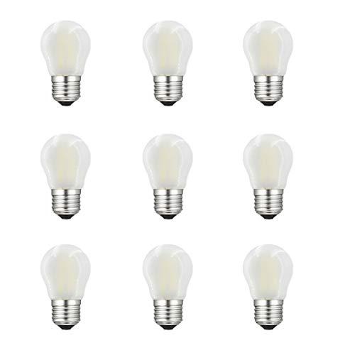 Preisvergleich Produktbild Glühbirne E27 LED,  RANBOO,  4W,  LEDclassic Lampe ersetzt 40W,  E27 LED Birne Filament G45,  Kaltweiß 6500K,  400 Lumen,  360° Abstrahlwinkel,  LED Leuchtmittel,  Tropfen,  Matt,  9er Pack