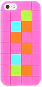 Cell Armor I5-NOV-F12-PK Hybrid Skin Case for iPhone 5 - Retail Packaging - Pink with Colorful Squares