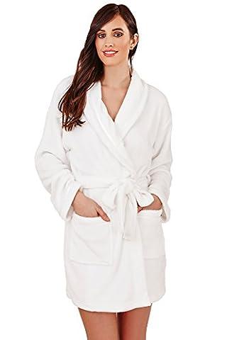Femmes Imprimé Cœur Pyjama Loungeable Nuisette Peignoir Ou Pyjama Combinaison Polaire Vêtement De Loisirs, Blanc Coeur Imprimé - peignoir, Taille S - EU 36-38