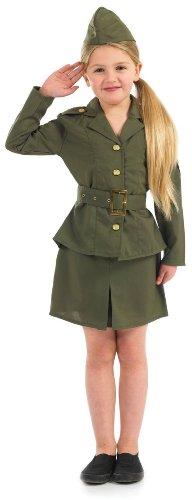Girl 1940 er-WW2 Army Girl Kostüm Kinder 8-10 Jahre (World War 2 Uniform Kostüme)