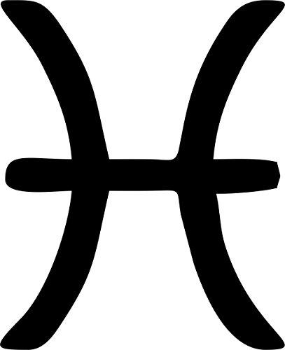 Preisvergleich Produktbild Selbstklebend Wandtattoo Sternzeichen Tierkreiszeichen Pisces Fisch Horoskop Auto