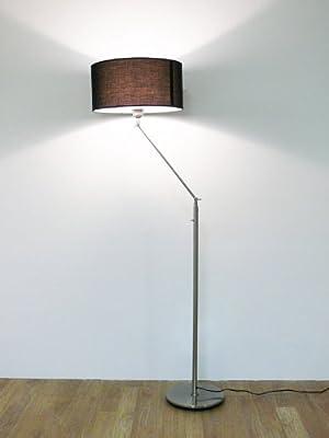 Design Stehleuchte mit schwarzem Lampenschirm, 164 cm, Kaja FL, 10262 von Kiom - Lampenhans.de