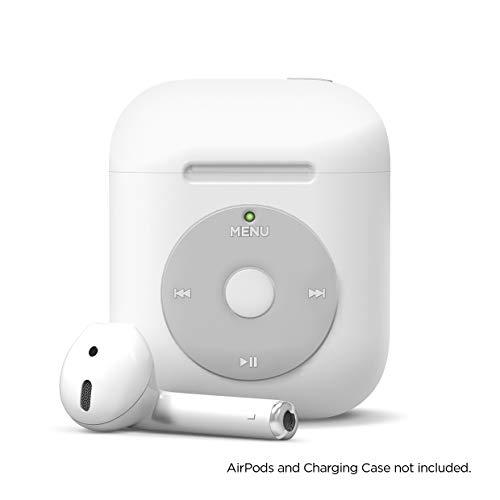 elago aw6 custodia airpods compatibile con apple airpods 2 & 1 - design classico player musicale, extra protezione, supporta la ricarica wireless [brevetto registrato us] (senza moschettone, bianco)