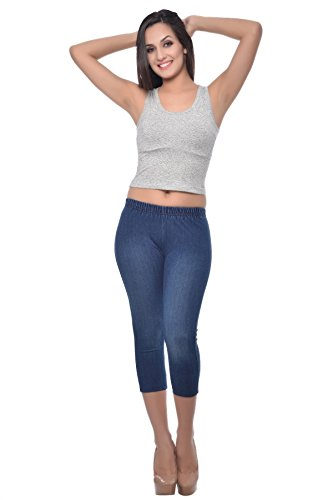 Frenchtrendz Women's Jegging Capri (JGCACMSK4W-4XL, Blue, XXXX-Large)