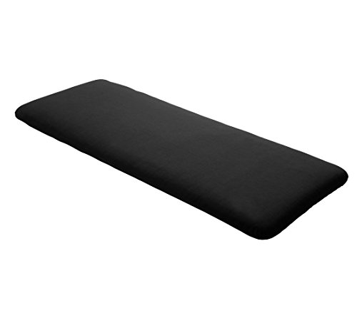 Dehner Bankauflage uni 2-Sitzer, ca. 120 x 45 x 6 cm, Polyacryl, schwarz