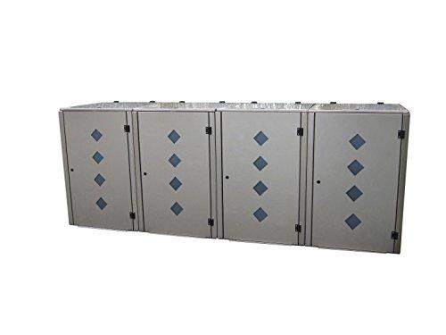 Mülltonnenbox für vier 240 Liter Mülltonnen, Modell Eleganza Raut