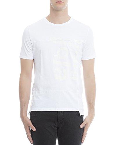 maison-margiela-t-shirt-uomo-s50gc0463s23034100-cotone-bianco