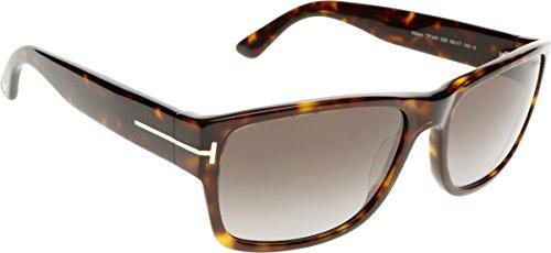 Tom Ford Für Mann 0445 Mason Dark Tortoise / Grey Gradient Kunststoffgestell Sonnenbrillen, 58mm