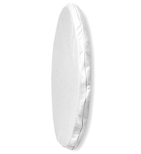 ssen Wunschton, rund ca. 36 cm Ø, in 7 zeitlosen Uni-Farben, Perfekter Sitzkomfort für alle Gelegenheiten, Farbe weiß ()