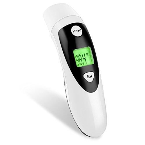 Termometro medico per febbre, misurazione rapida e precisa, per via orale, rettale o sotto il braccio, per neonati, bambini, adulti e animali domestici