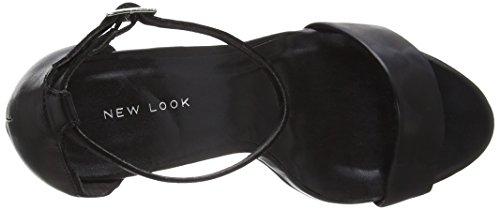 New Look Valuable, Escarpins Bout ouvert femme Noir (noir)