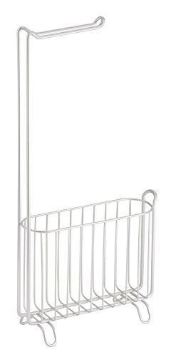 interdesign-69744eu-classico-freistehender-toilettenpapierhalter-und-zeitungs-zeitschriftenablage-fu
