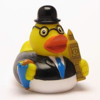 HC-Handel 916640 Vinyl Badeente City Duck London 8 cm bunt