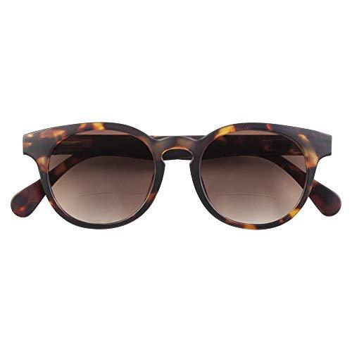 Babsee Bifokale Sonnenbrille für Damen und Herren Modell Piet +2.5 | Es ist fast keine Linie sichtbar Bifokale Sonnenbrille mit UV-Schutz Braun mattiert | Flexible Scharnierlinsenbreite