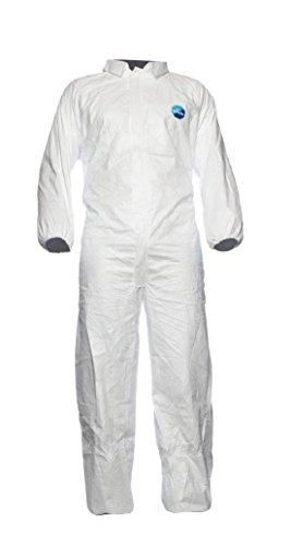 Preisvergleich Produktbild DuPont Industry Modell CCF5 Anzug mit Kragen, Tyvek, Größe M, Weiß