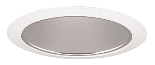 Juno Lighting 27HZ-WH 6-Inch Tapered Downlight Cone, White Trim with Haze by Juno Lighting Group -