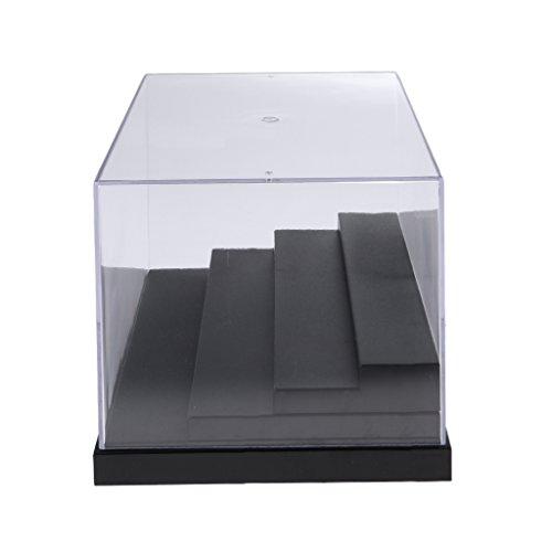 KESOTO La Caja De Exhibición A Prueba De Polvo De 4 Pasos De La Demostración para La Figura del Amiibo Funko Pop Protege