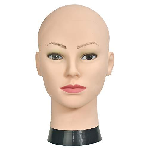 Cabeza de maniquí de entrenamiento para cosmetología, para pelucas y exhibición con abrazadera