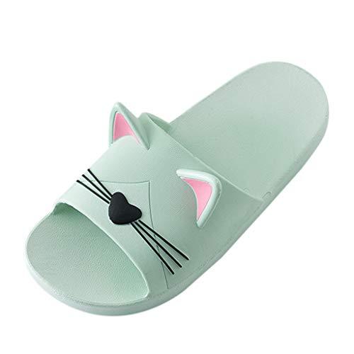 Makefortune 2019 Sandalen Damen Sommer, Frauen Zuhause Hausschuhe Cartoon Katze Boden Familie Schuhe Strand Sandalen Schuhe Strandschuhe Freizeitschuhe Turnschuhe Hausschuhe
