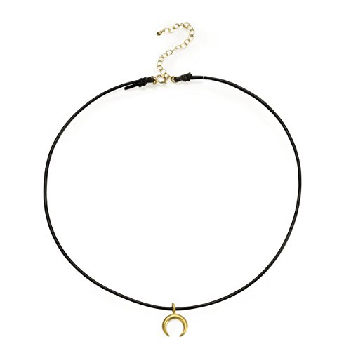 dogeared-14-ct-gold-plated-crescent-moon-on-black-leather-choker-of-length-3175-cm-with-5-cm-extende