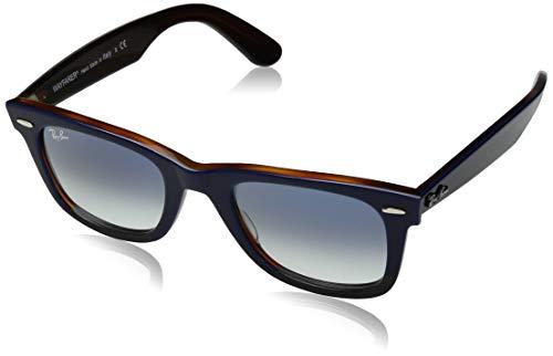 Ray-Ban Unisex-Erwachsene 0RB2140 Sonnenbrille, Schwarz (Top Blue On Red Havana), 50