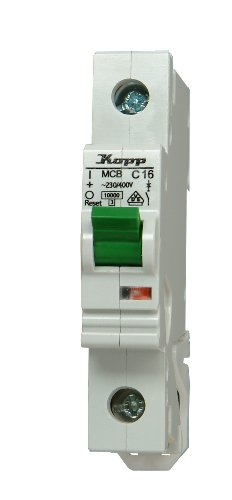 Ge Electric Circuit Breaker (Kopp 721601005 Green Electric Leitungsschutzschalter (MCB) 1-polig, 16 A)