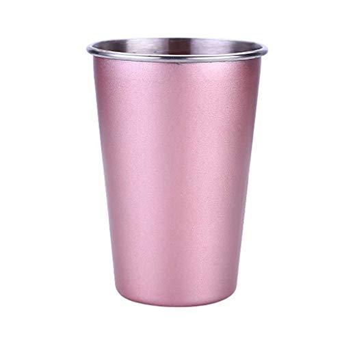 TAOtTAO Edelstahl-Schalen-trinkendes Saft-Bier-Glas-Teil-Schalenausgangsreise-Picknick Kaltes Getränkebecher aus Edelstahl ()
