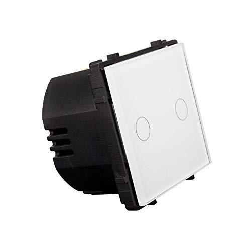 Interruptor Táctil Doble Conmutado Remoto Blanco efectoLED