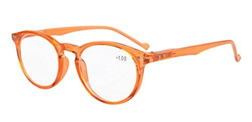 Eyekepper Oval Rund Federscharniere Brillen orange Rahmen +4.0