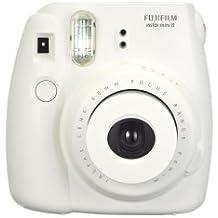 Fujifilm Instax Mini 8 - Cámara analógica instantánea (flash, velocidad de obturación fija de 1/60 s), color blanco