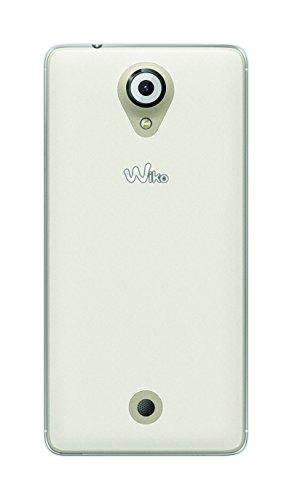 Phonix Coque et Film de Protection d'écran pour Wiko U-Feel, Blanc Transparent