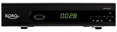 Xoro HRS 8659 digitaler Satelliten-Receiver mit LAN Anschluss (HDTV, DVB-S2, HDMI, SCART, USB 2.0 Media Player) schwarz